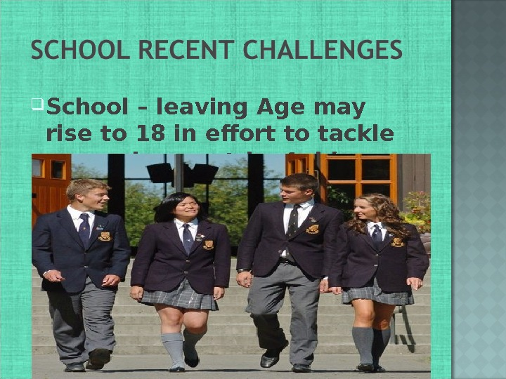 School – leaving Age may rise to 18 in effort to tackle unemployment by Ashley