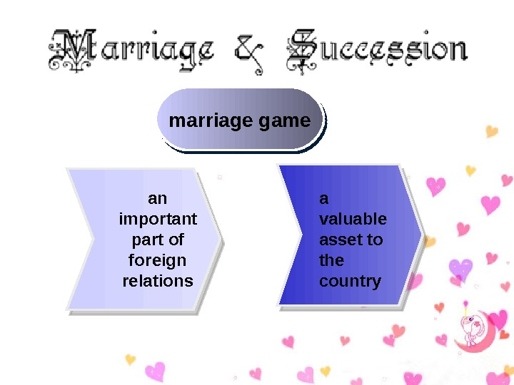 marriage game an important part of foreign relations a valuable asset to the country