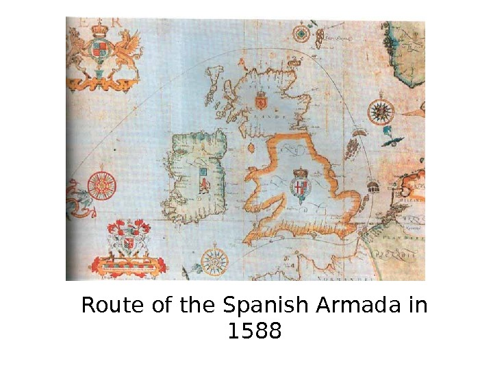 Route of the Spanish Armada in 1588