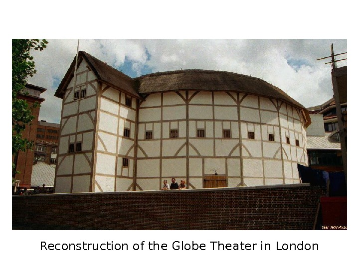 Reconstruction of the Globe Theater in London