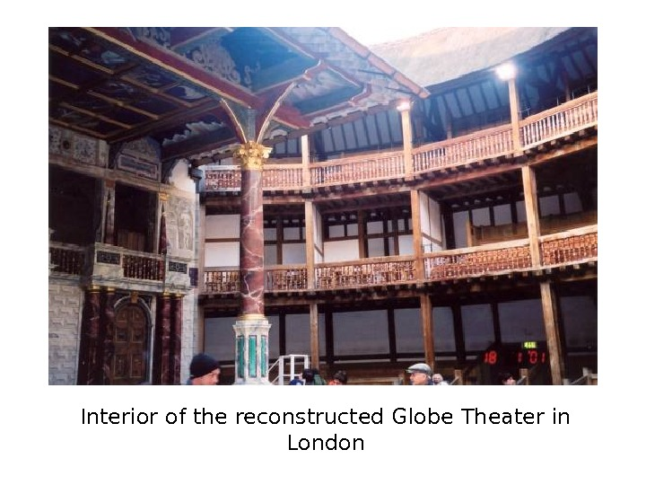 Interior of the reconstructed Globe Theater in London