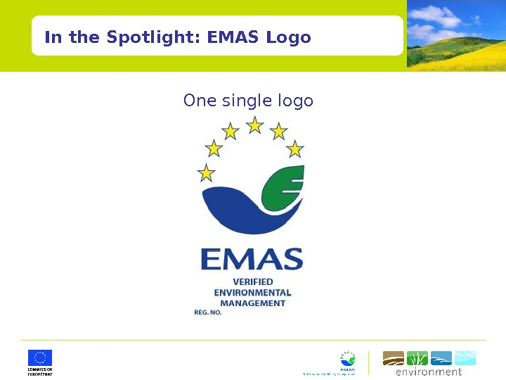 One single logo In the Spotlight: EMAS Logo