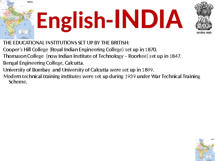 THE EDUCATIONAL INSTITUTIONS SET UP BY THE BRITISH: Cooper's Hill College (Royal Indian Engineering College) set