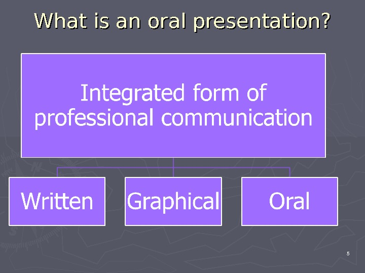 What is an oral presentation? 5