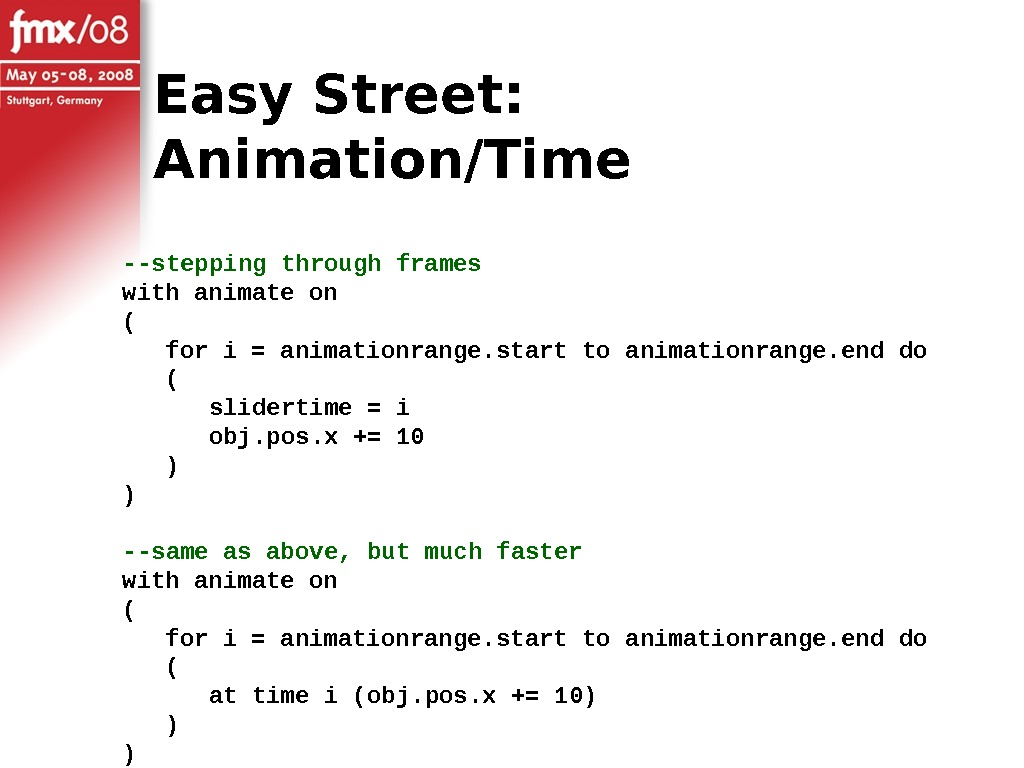 --stepping through frames with animate on (  for i = animationrange. start to animationrange. end