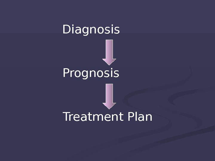 Diagnosis   Prognosis   Treatment Plan