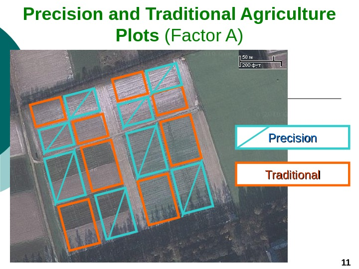 Precision and Traditional Agriculture Plots (Factor A) 11 Precision Traditional