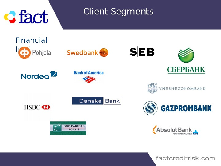 Client Segments Financial Institutions