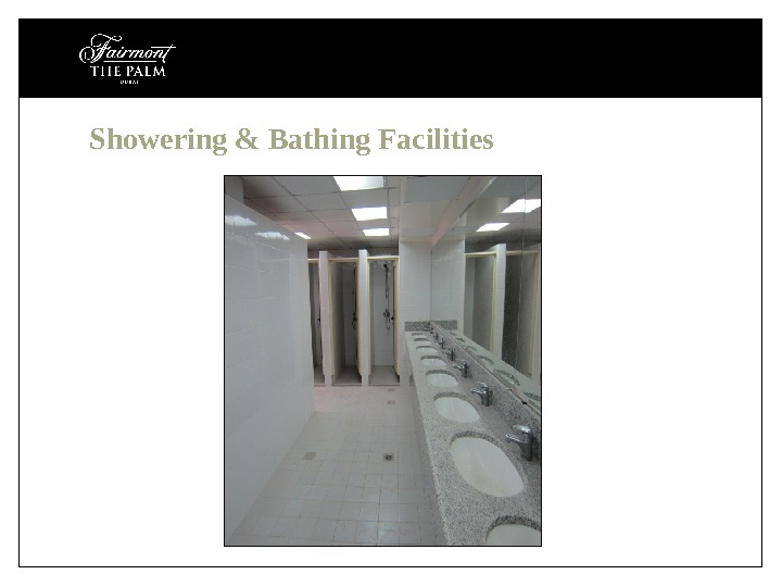 Showering & Bathing Facilities