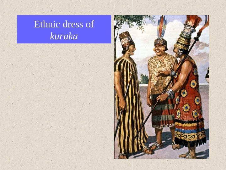 Ethnic dress of kuraka