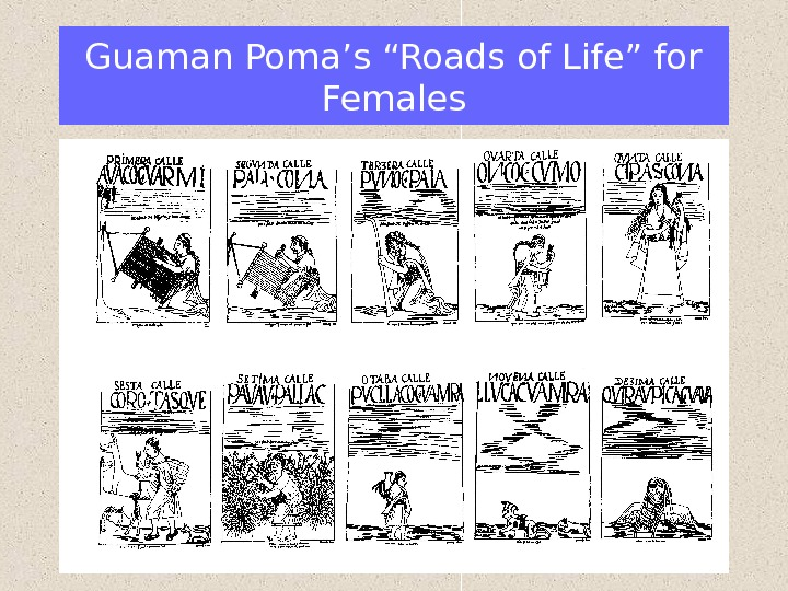"Guaman Poma's ""Roads of Life"" for Females"