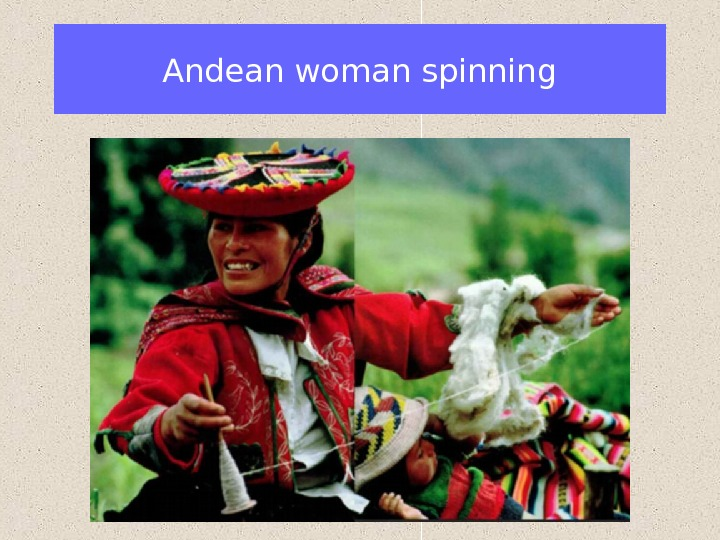 Andean woman spinning