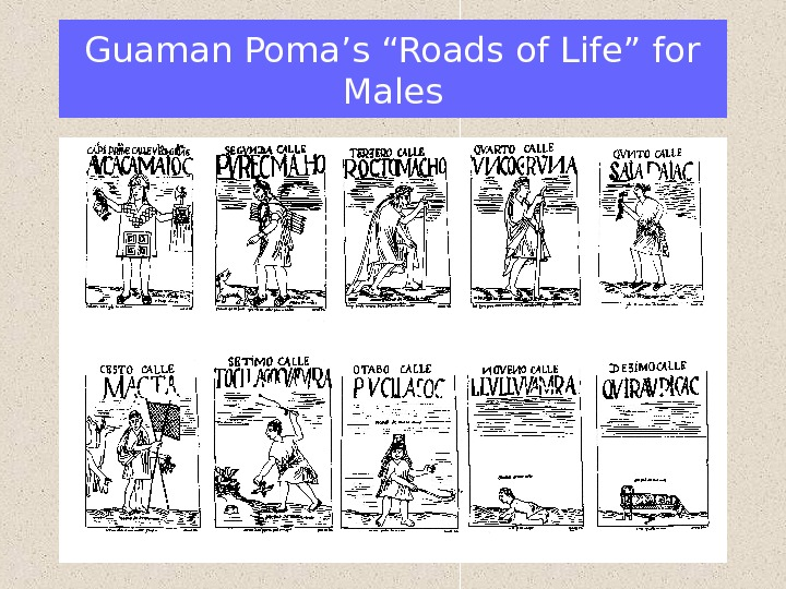 "Guaman Poma's ""Roads of Life"" for Males"