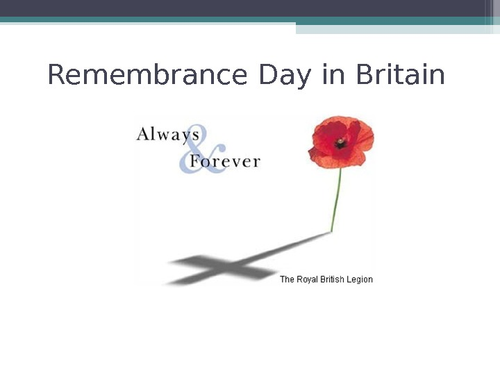 Remembrance Day in Britain