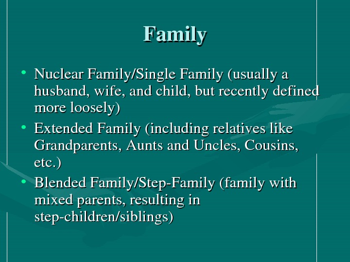 What is your opinion?  Who can be included into a family?