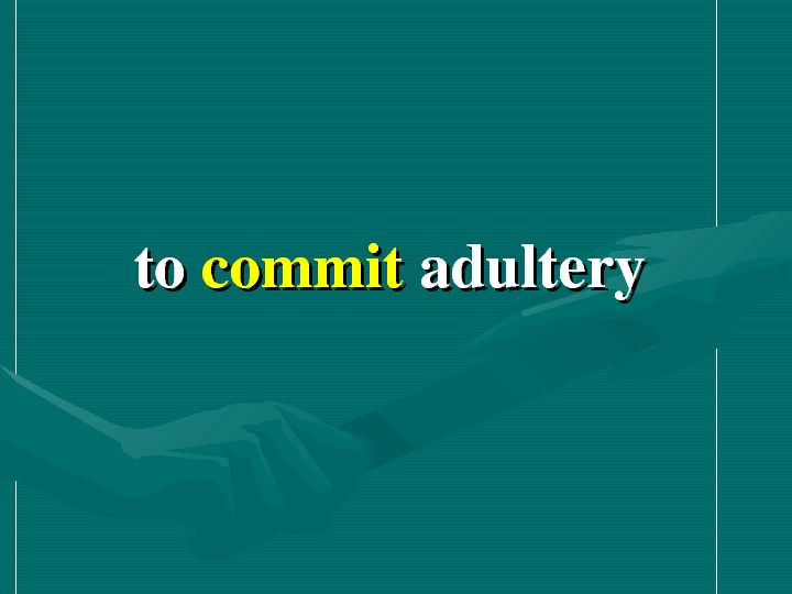 toto commit adultery