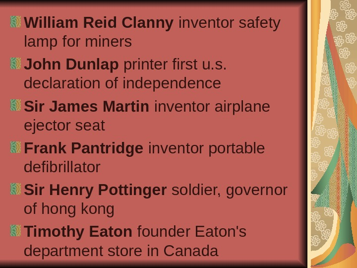 William Reid Clanny inventor safety lamp for miners John Dunlap printer first u. s.