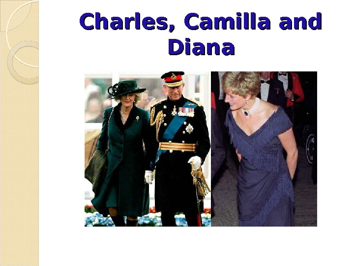 Charles, Camilla and Diana