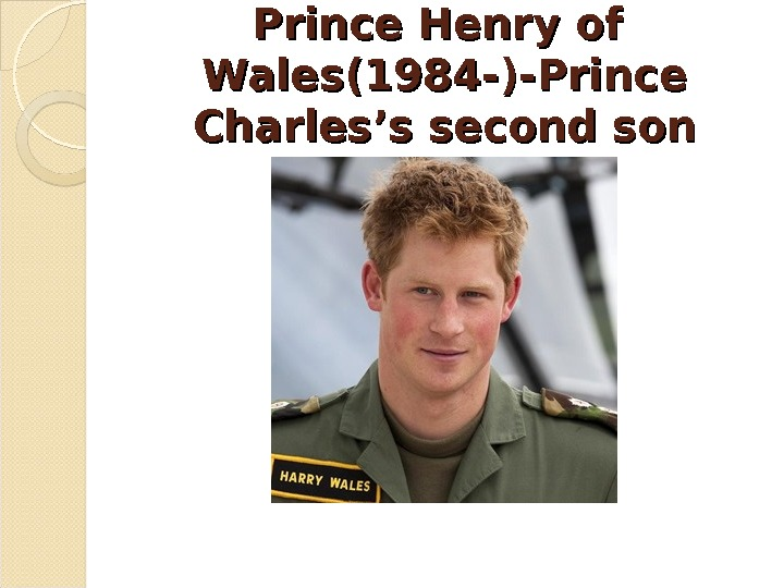 Prince Henry of  Wales(1984 -)-Prince Charles's second son