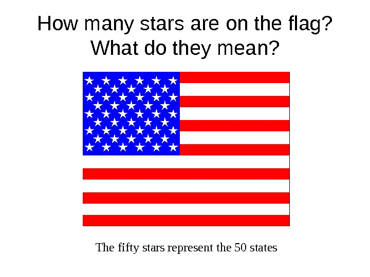 How many stars are on the flag?  What do they mean? The fifty