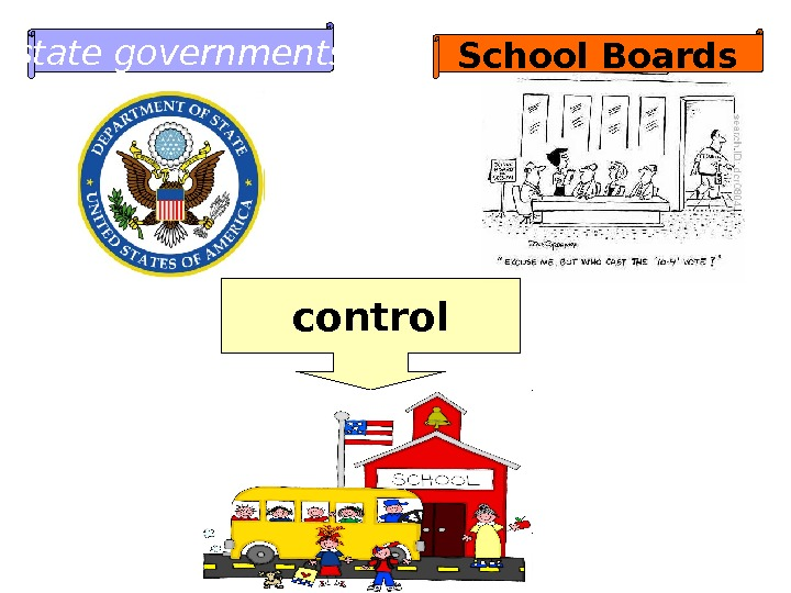 state governments School Boards control