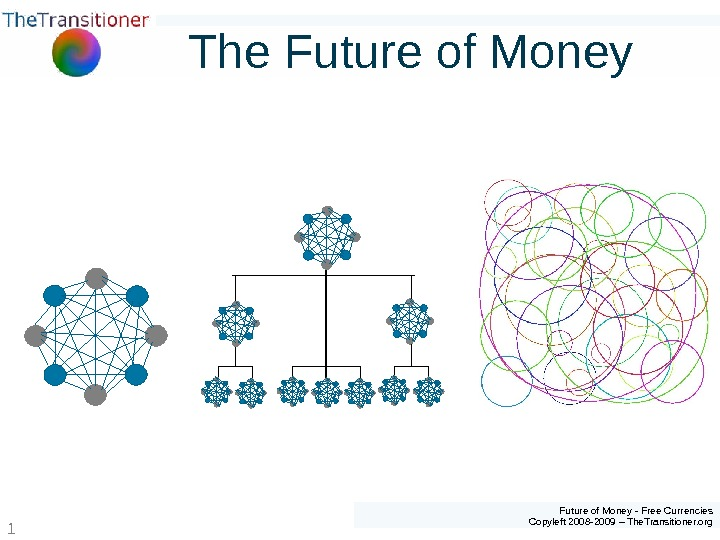Future of Money - Free Currencies Copyleft 2008 -2009 – The. Transitioner. org 1 The Future