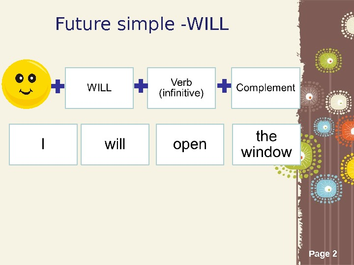 Page 2 Future simple -WILL