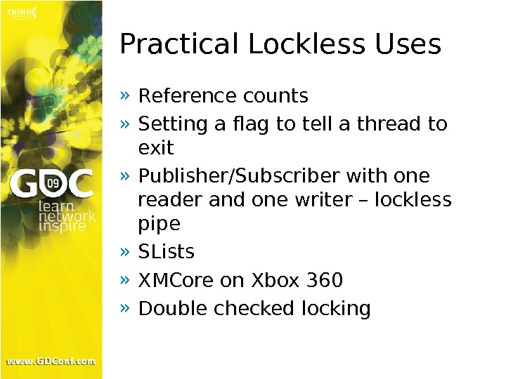 Practical Lockless Uses » Reference counts » Setting a flag to tell a thread to exit