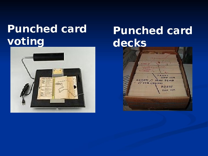 Punched card voting Punched card decks