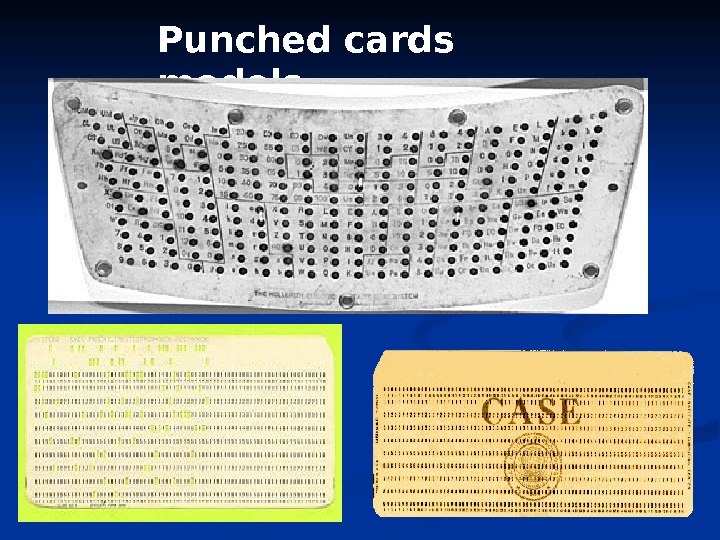 Punched cards models