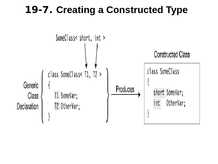 19 -7.  Creating a Constructed Type