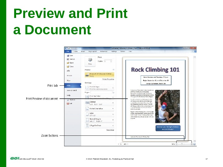 with Microsoft ® Word 2010 2 e © 2013  Pearson Education, Inc. Publishing as Prentice