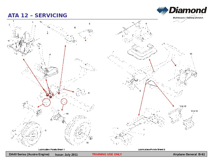 TRAINING USE ONLYATA 12 – SERVICING Airplane General B-61 DA 40 Series (Austro Engine) Issue: July