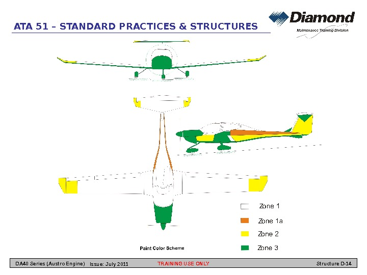 ATA 51 – STANDARD PRACTICES & STRUCTURES TRAINING USE ONLY Structure D-14 DA 40 Series (Austro