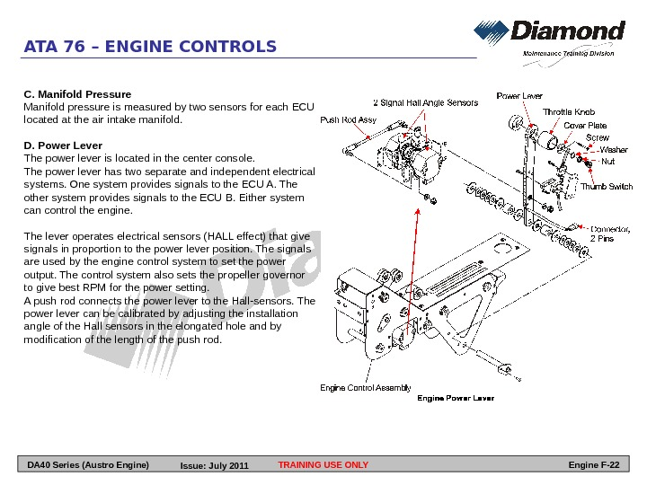 C. Manifold Pressure Manifold pressure is measured by two sensors for each ECU located at the