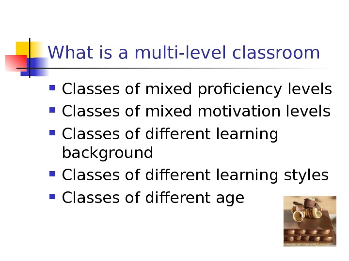 What is a multi-level classroom Classes of mixed proficiency levels  Classes of mixed motivation levels