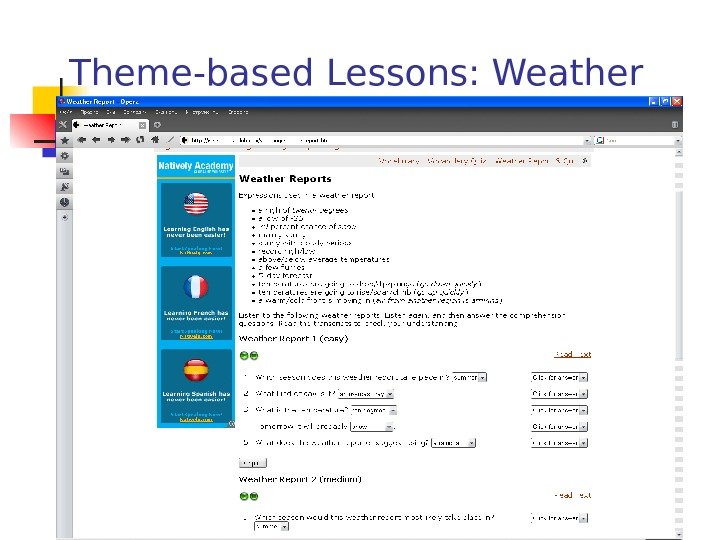 Theme-based Lessons: Weather