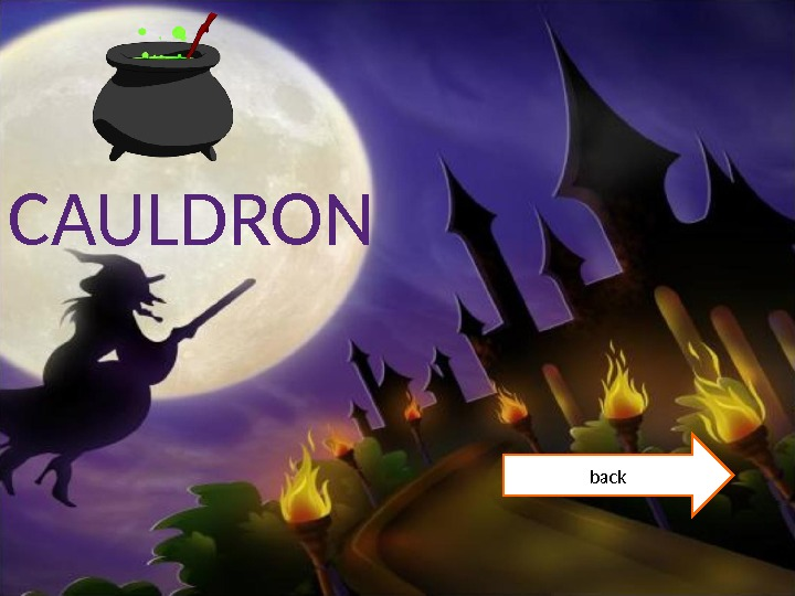CAULDRON back