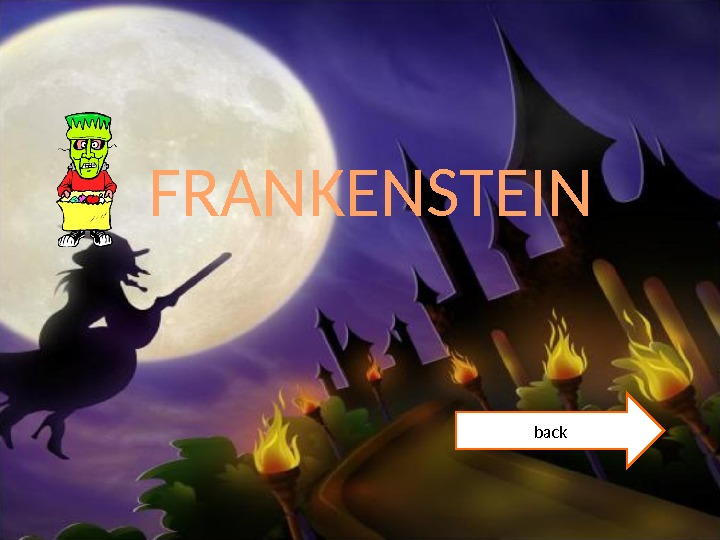 FRANKENSTEIN back