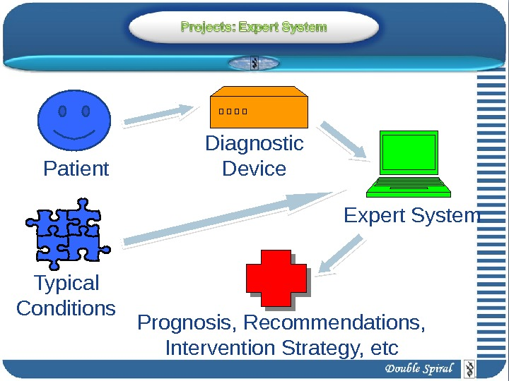 Patient Expert System. Diagnostic Device Prognosis, Recommendations,  Intervention Strategy, etc. Typical Conditions