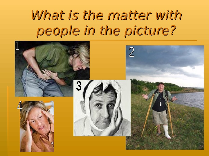 What is the matter with people in the picture?