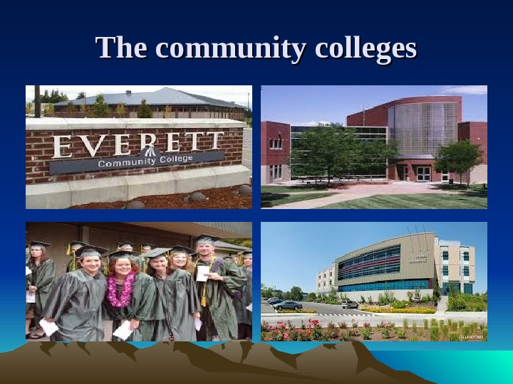 The community colleges