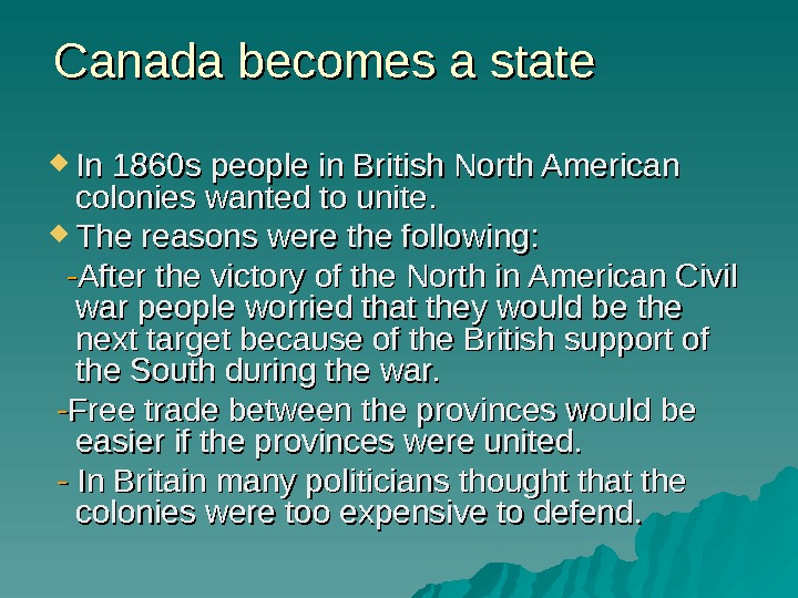 Canada becomes a state