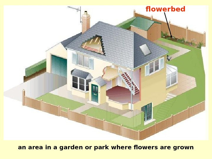 an area in a garden or park where flowers are grown flowerbed
