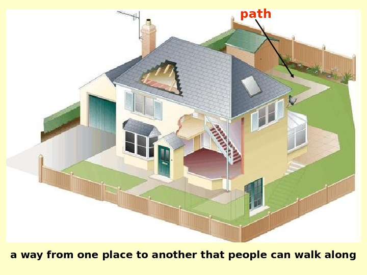 a way from one place to another that people can walk along path