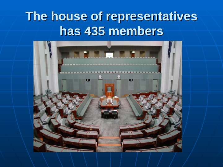 The house of representatives has 435 members