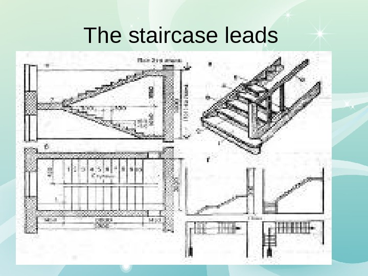 The staircase leads