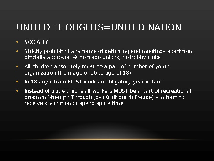 UNITED THOUGHTS=UNITED NATION • SOCIALLY • Strictly prohibited any forms of gathering and meetings apart from