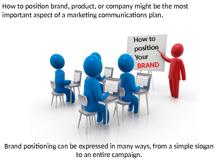 How to position brand, product, or company might be the most important aspect of a marketing
