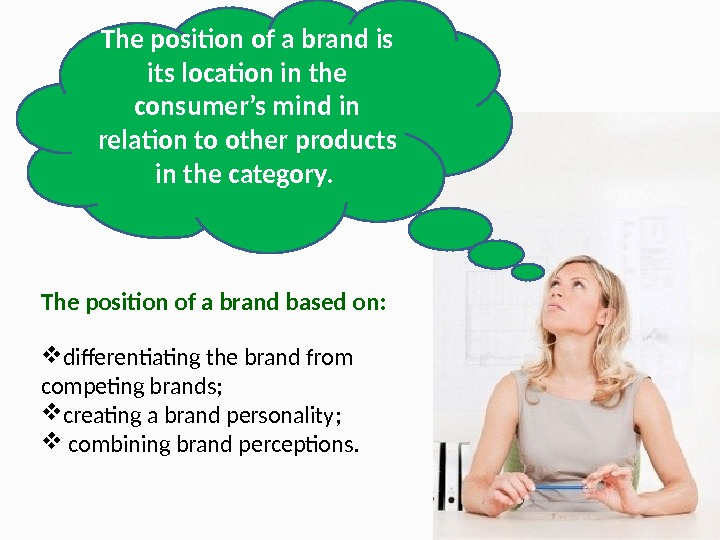 The position of a brand is its location in the consumer's mind in relation to other